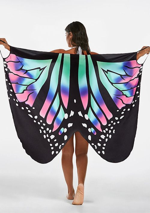 Multi Color Butterfly Cover Up Wrap